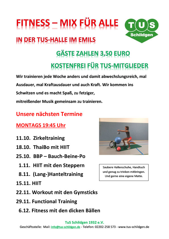 Read more about the article Fitness-Mix am Montag: Die nächsten Termine im Überblick