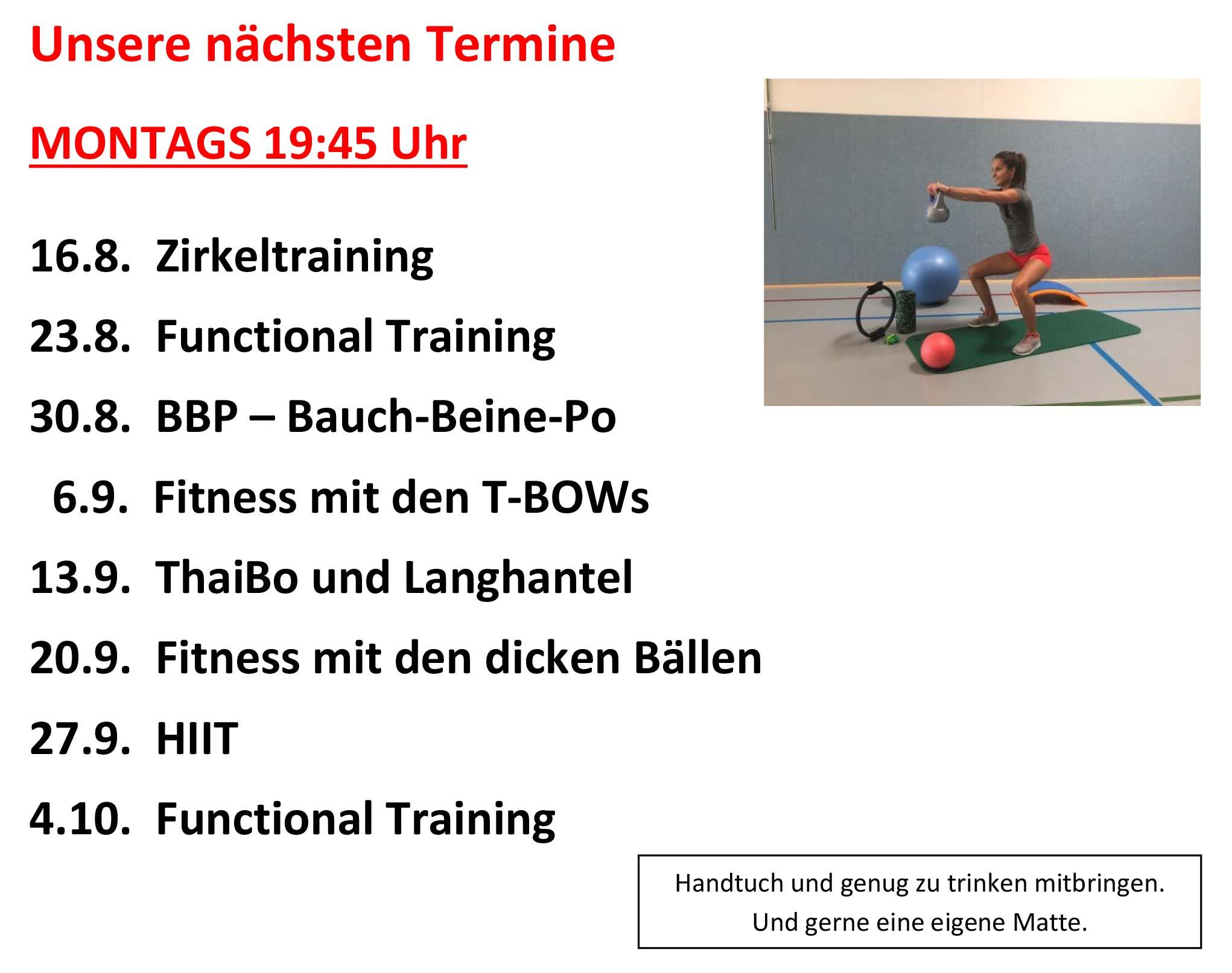 You are currently viewing Fitness-Mix am Montag: Die nächsten Termine im Überblick