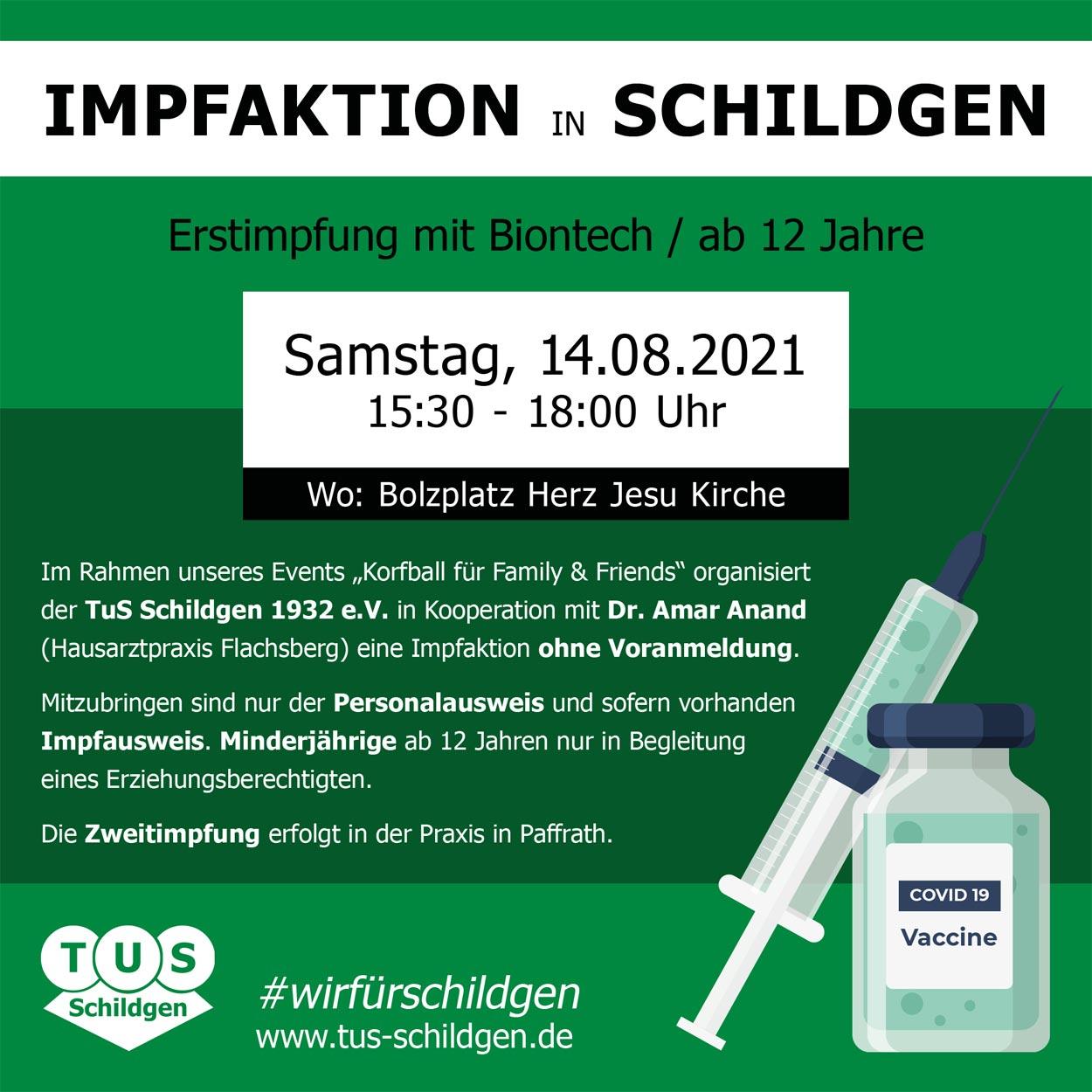 You are currently viewing Impfaktion am 14.08.2021 in Schildgen / Korfball für Family & Friends