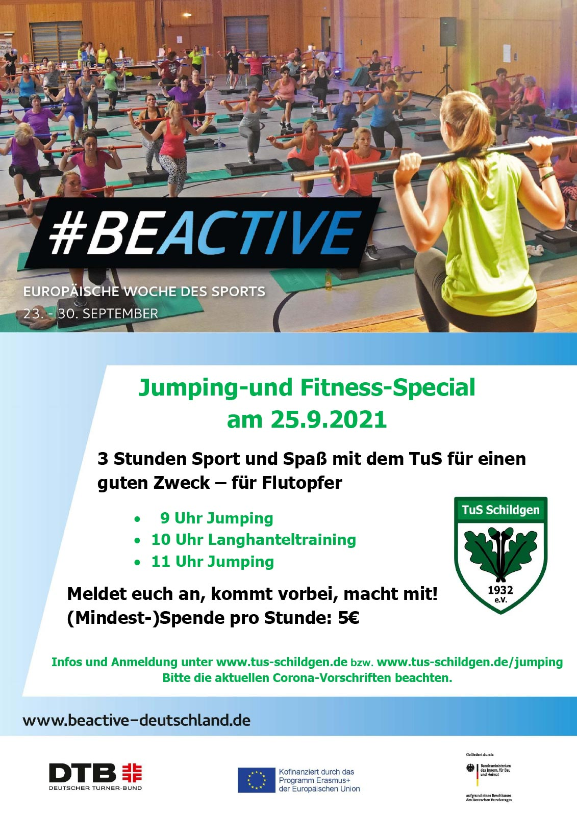 You are currently viewing #BeActive Deutschland – der TuS ist wieder dabei!