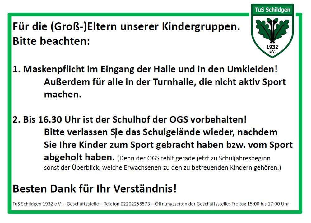 You are currently viewing Concordiahalle: Info für die (Groß-)Eltern unserer Kindergruppen